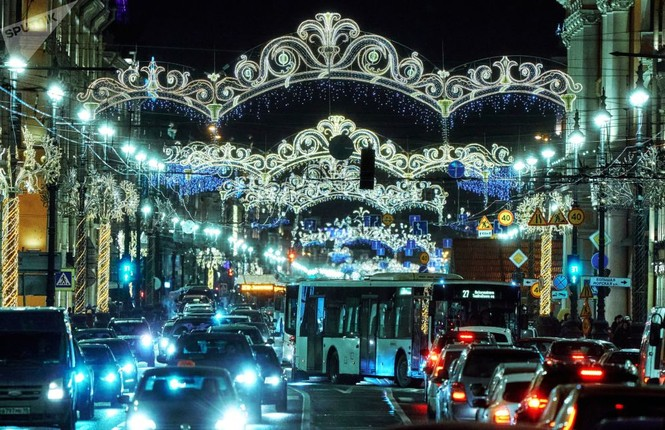 Saint-Peterburg lộng lẫy đón Giáng sinh và năm mới 2020 - ảnh 8