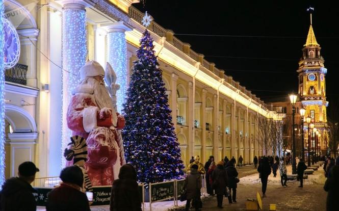 Saint-Peterburg lộng lẫy đón Giáng sinh và năm mới 2020 - ảnh 7