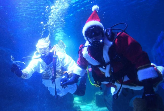 Ông già Noel xuất hiện khắp mọi nơi chào đón Giáng sinh - ảnh 19