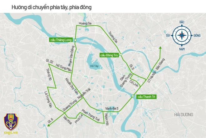 Hà Nội phân luồng giao thông phục vụ Đại hội Đảng XIII - ảnh 3