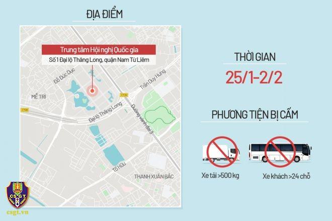 Hà Nội phân luồng giao thông phục vụ Đại hội Đảng XIII - ảnh 4