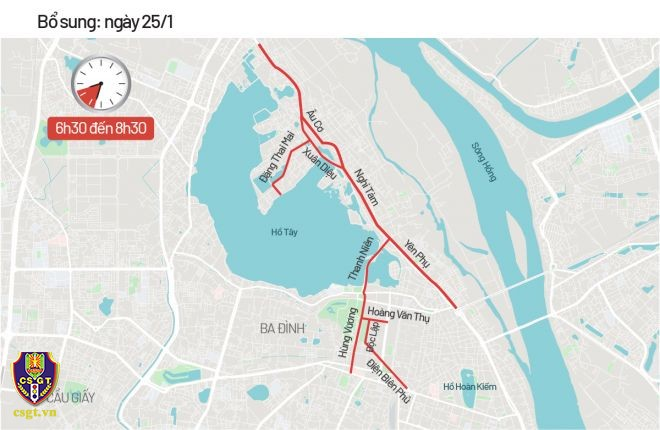 Hà Nội phân luồng giao thông phục vụ Đại hội Đảng XIII - ảnh 6