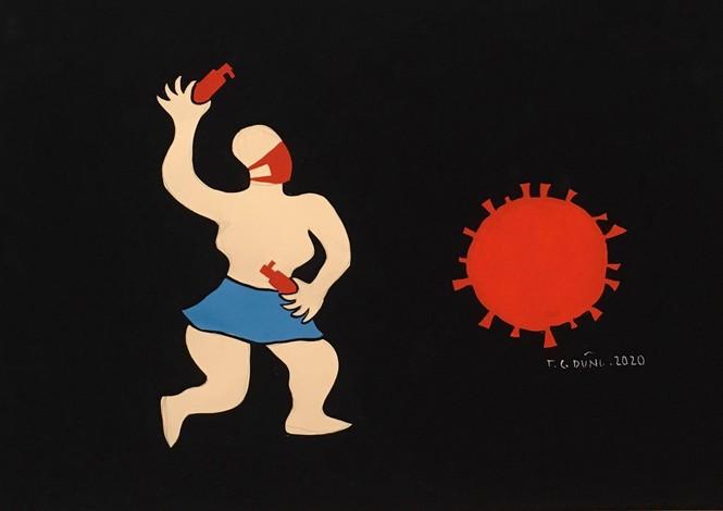 Nhất cự ly nhì che chắn - loạt tranh cổ động hài hước thời COVID-19 - ảnh 5