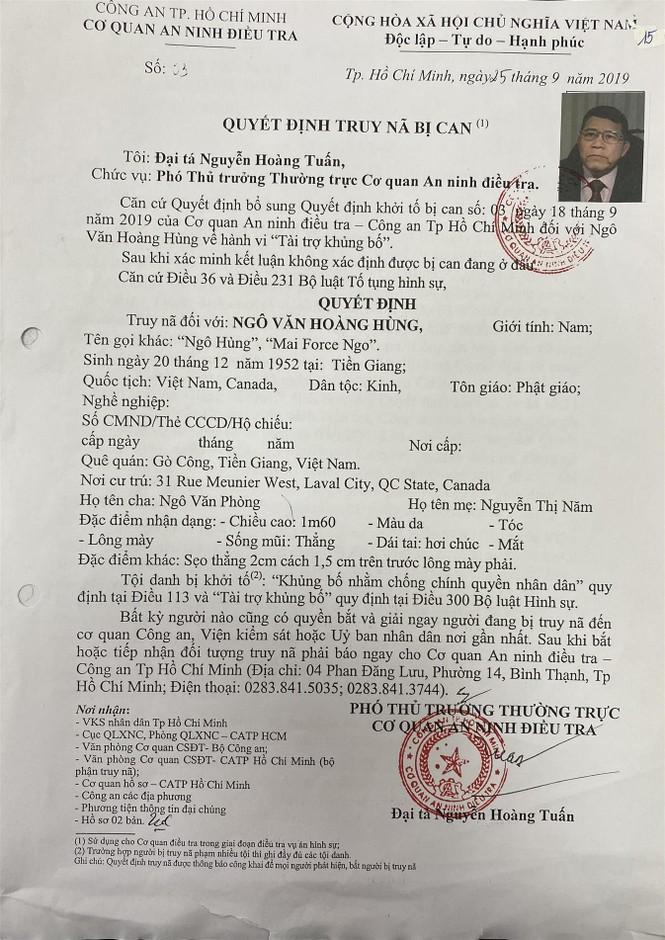 """Chân dung nhóm """"tư lệnh"""" của tổ chức khủng bố """"Triều đại Việt"""" - ảnh 2"""