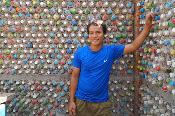 Cận cảnh ngôi nhà toàn bằng chai nhựa trên đảo Bé Lý Sơn - ảnh 8