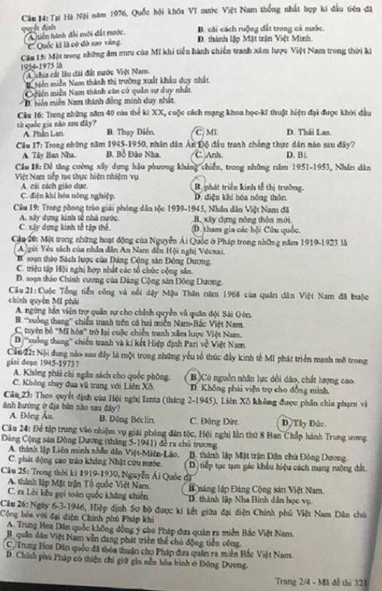 """""""Check"""" ngay gợi ý đáp án tổ hợp KHXH kỳ thi Tốt nghiệp THPT 2020 để biết điểm số nào! - ảnh 9"""