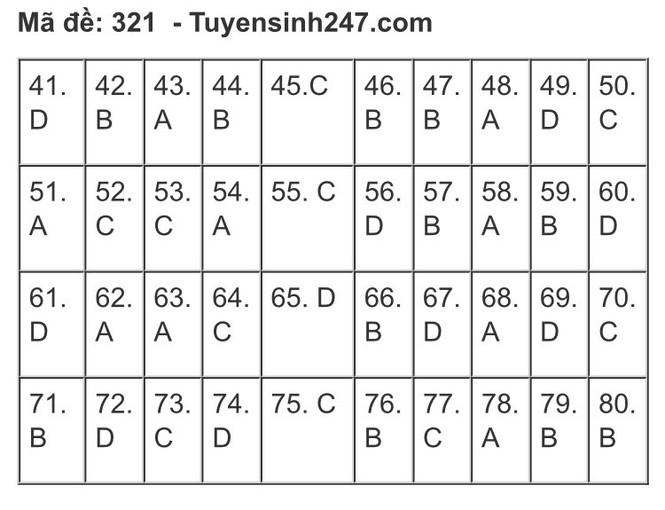 """""""Check"""" ngay gợi ý đáp án tổ hợp KHXH kỳ thi Tốt nghiệp THPT 2020 để biết điểm số nào! - ảnh 17"""