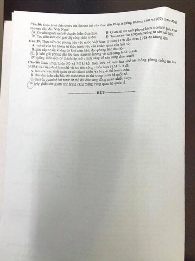"""""""Check"""" ngay gợi ý đáp án tổ hợp KHXH kỳ thi Tốt nghiệp THPT 2020 để biết điểm số nào! - ảnh 11"""