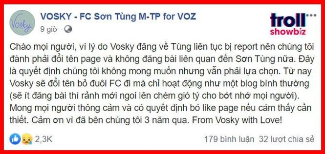 """Các FC """"khủng""""của Sơn Tùng M-TP đột ngột tuyên bố ngưng hoạt động, điều gì đã xảy ra? - ảnh 5"""