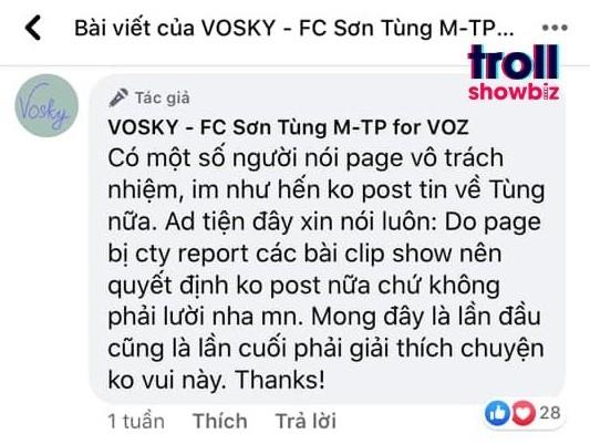 """Các FC """"khủng""""của Sơn Tùng M-TP đột ngột tuyên bố ngưng hoạt động, điều gì đã xảy ra? - ảnh 6"""