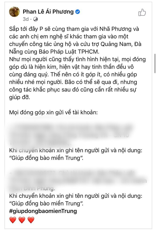 Hàng loạt sao Việt đích thân đi cứu trợ Miền Trung mùa bão lũ - ảnh 4