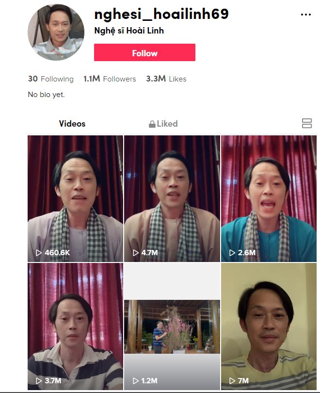 NSƯT Hoài Linh gia nhập dân chơi hệ TikTok, chưa đầy 26 tiếng đạt hơn 1 triệu theo dõi - ảnh 1
