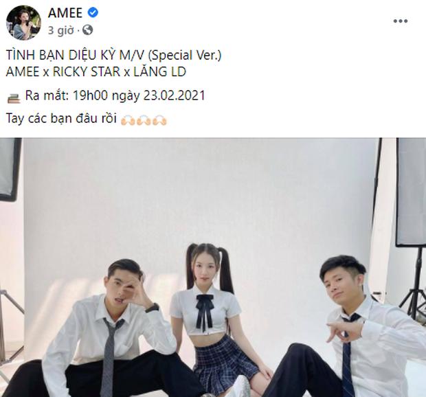 AMEE - Ricky Star - Lăng LD sẽ xuất hiện trong MV