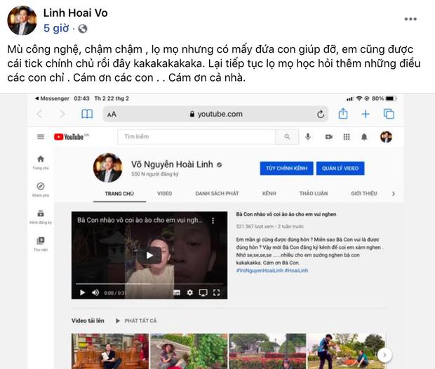 NSƯT Hoài Linh chuẩn người chơi hệ kênh nào