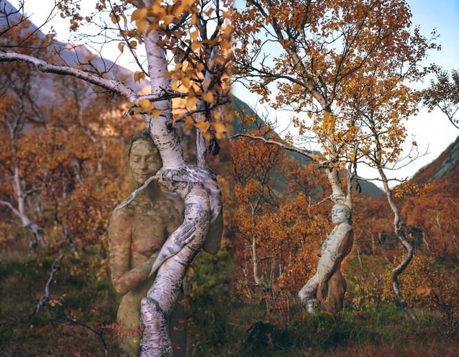 Sửng sốt với bộ ảnh 'body-painting' siêu thực trong giá lạnh 0 độ C - ảnh 6