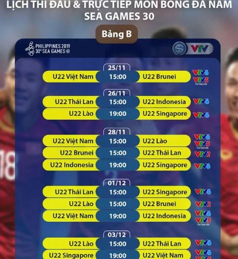 Lịch thi đấu môn bóng đá nam và nữ SEA Games 2019 - ảnh 2