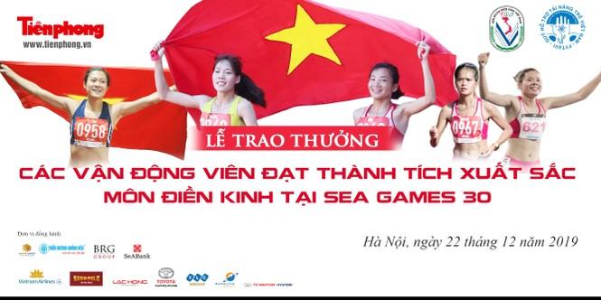Tặng thưởng VĐV điền kinh giành thành tích cao tại SEA Games 30  - ảnh 1