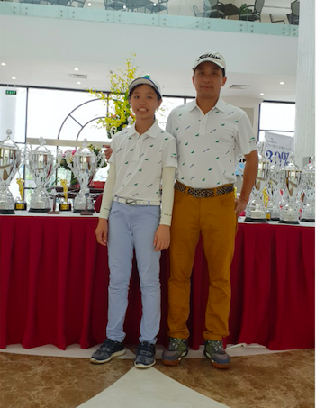 Golfer nhỏ tuổi nhất Tiền Phong Golf Championship 2020 mơ giành HIO - ảnh 1