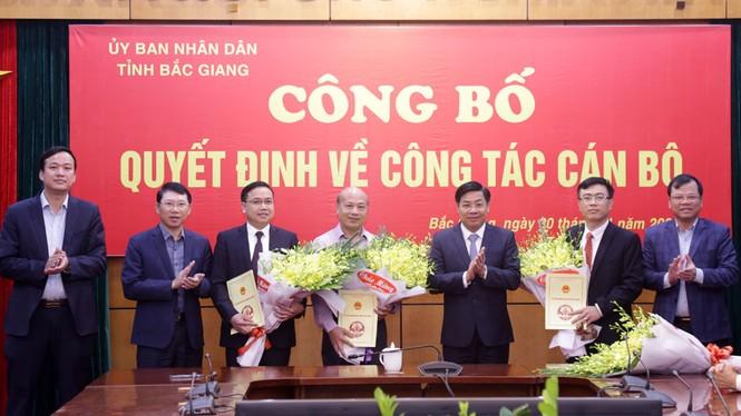 Tỉnh Bắc Giang bổ nhiệm ba giám đốc sở - ảnh 1