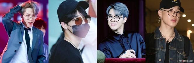 Các kiểu mắt kính của Jimin BTS: Hiếm sao nào có khuôn mặt hợp với các loại kính như Jimin - ảnh 3