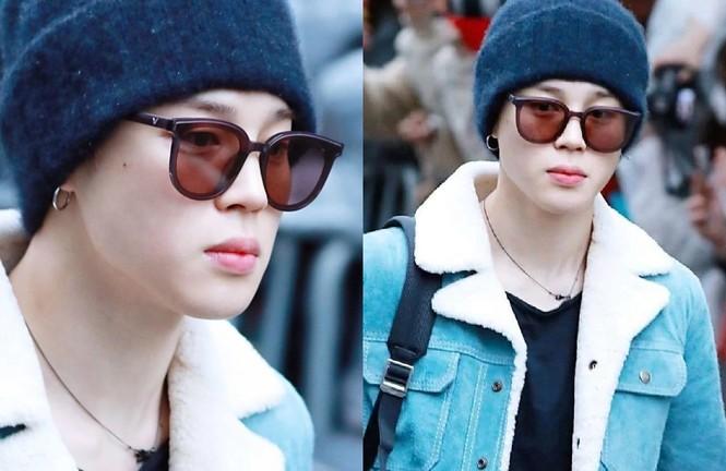 Các kiểu mắt kính của Jimin BTS: Hiếm sao nào có khuôn mặt hợp với các loại kính như Jimin - ảnh 4