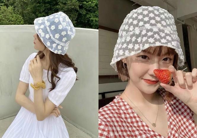 Mũ bucket ren: Kiểu mũ đang là hot trend của giới trẻ Hàn Quốc - ảnh 2