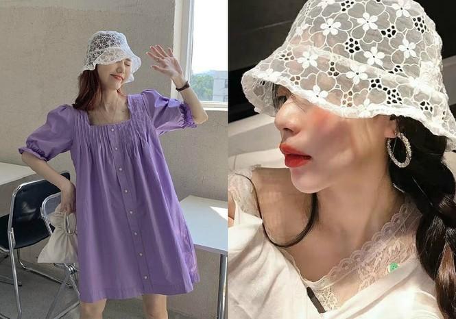Mũ bucket ren: Kiểu mũ đang là hot trend của giới trẻ Hàn Quốc - ảnh 4
