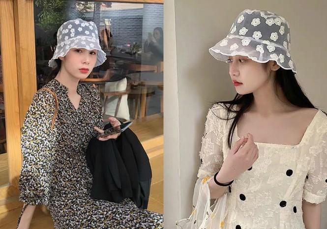 Mũ bucket ren: Kiểu mũ đang là hot trend của giới trẻ Hàn Quốc - ảnh 1