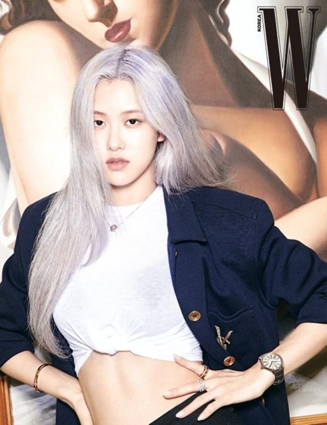 Rosé (BLACKPINK) lại có bộ ảnh siêu đẹp trên W tháng 8 với mái tóc tím khói thần thánh - ảnh 8