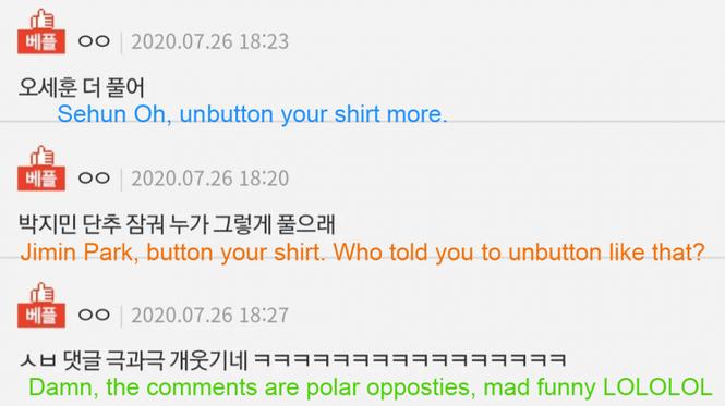 """Jimin (BTS) """"đụng hàng"""" Sehun (EXO), phản ứng trái ngược từ fan khiến netizen cười ngất - ảnh 2"""