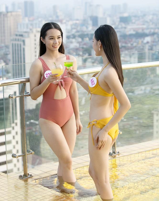 Dàn thí sinh Top 60 Hoa Hậu Việt Nam 2020 khoe sắc vóc xinh đẹp quyến rũ với bikini - ảnh 4
