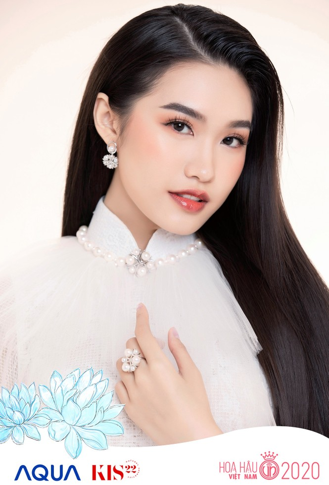 Các cô gái có chiều cao trên 1m70 của Top 60 Hoa Hậu Việt Nam duyên dáng trong tà áo dài - ảnh 9
