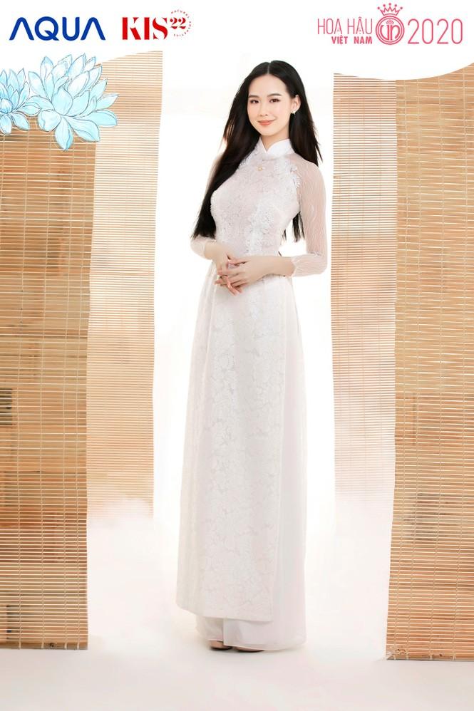 Các cô gái có chiều cao trên 1m70 của Top 60 Hoa Hậu Việt Nam duyên dáng trong tà áo dài - ảnh 1