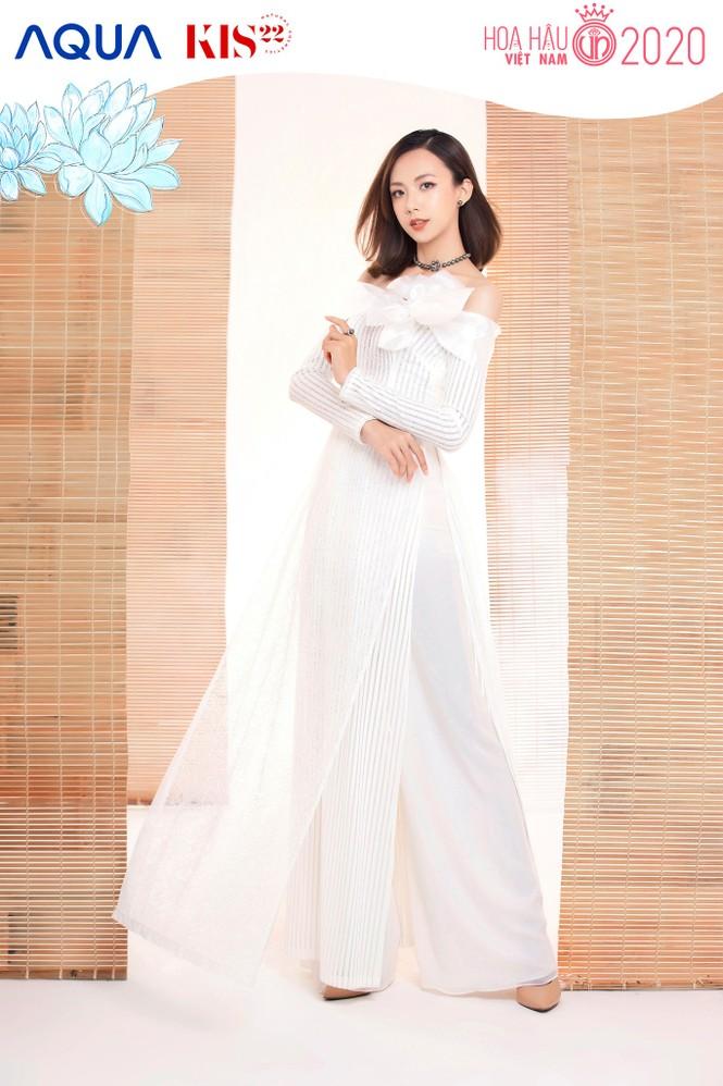 Các cô gái có chiều cao trên 1m70 của Top 60 Hoa Hậu Việt Nam duyên dáng trong tà áo dài - ảnh 2