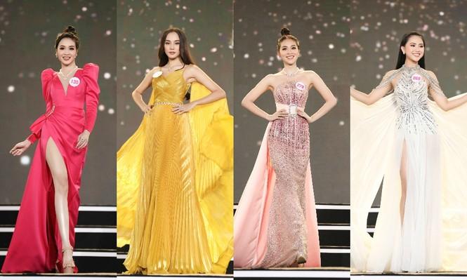 Top 35 Hoa hậu Việt Nam 2020 chính thức lộ diện trong trang phục dạ hội xinh đẹp lộng lẫy - ảnh 1