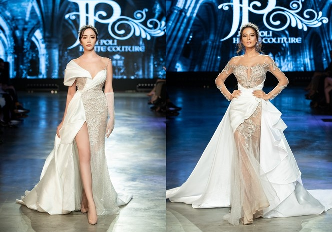 """Hoa hậu Tiểu Vy mặc váy cô dâu đội vương miện như """"nữ hoàng"""" làm vedette show thời trang - ảnh 5"""
