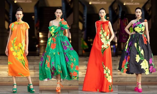 Hoa hậu Tiểu Vy mở màn với thiết kế váy lạ mắt, Võ Hoàng Yến mặc váy nặng 30kg kết show - ảnh 6
