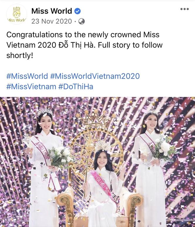 Hoa hậu Đỗ Thị Hà bất ngờ được chuyên trang sắc đẹp thế giới dự đoán lọt Top 10 Miss World - ảnh 3