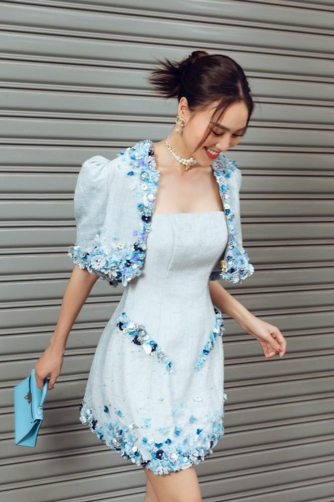 Ninh Dương Lan Ngọc xinh đẹp dạo phố trong những thiết kế rất hợp thời tiết Sài Gòn - ảnh 5