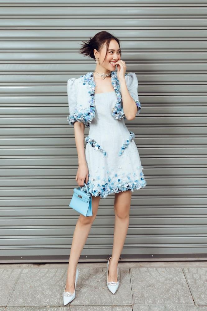 Ninh Dương Lan Ngọc xinh đẹp dạo phố trong những thiết kế rất hợp thời tiết Sài Gòn - ảnh 6