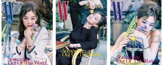 Jisoo BLACKPINK khoe nhan sắc cực kỳ ấn tượng trên bìa W Hàn, nhưng netizen lại nhắc đến Lisa - ảnh 5