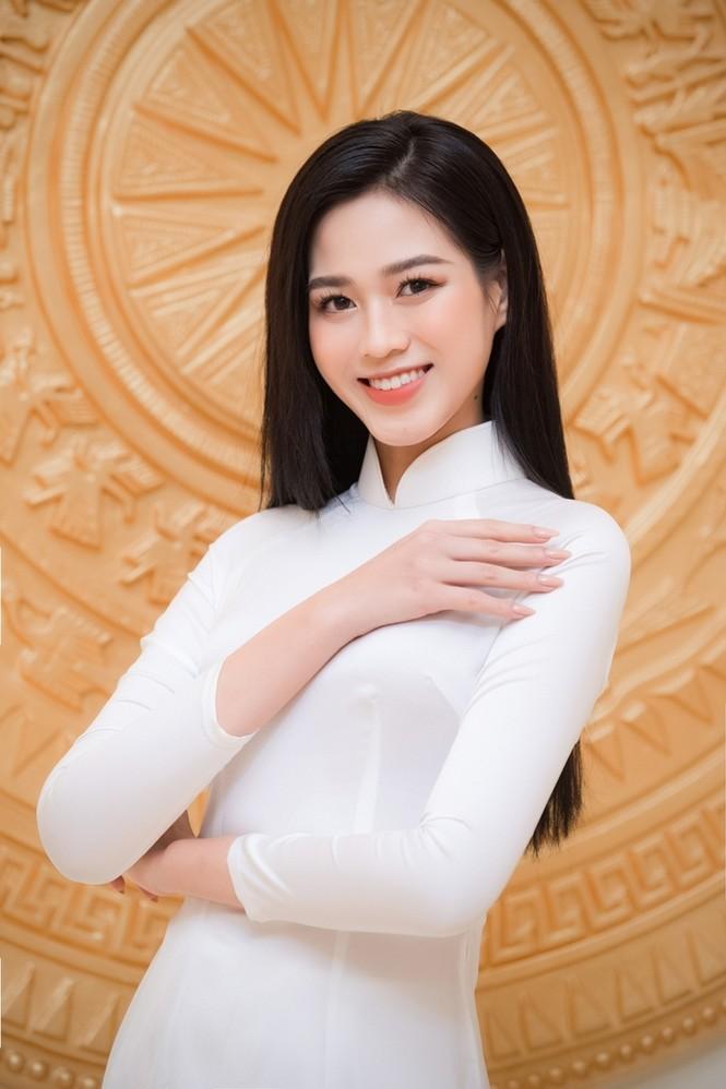 Hoa hậu Đỗ Thị Hà xinh đẹp trong tà áo dài trắng khi chính thức đảm nhận cương vị mới - ảnh 4
