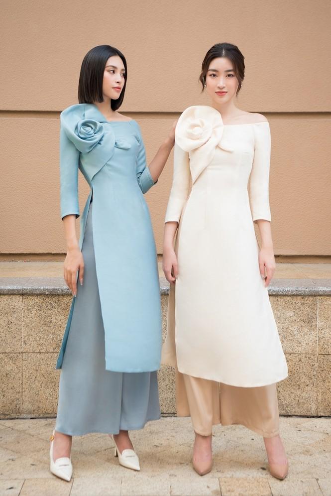 Hoa hậu Đỗ Mỹ Linh ra mắt BST áo dài Tết đến từ thương hiệu do cô sở hữu, Tiểu Vy làm mẫu - ảnh 1