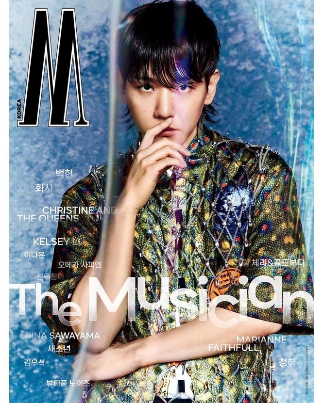 Tạp chí W Hàn tung bìa số tháng 3, Baekhyun (EXO) thì rõ rồi nhưng idol nữ mới thực sự là ẩn số - ảnh 2