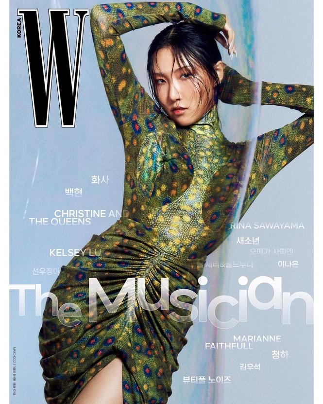 Tạp chí W Hàn tung bìa số tháng 3, Baekhyun (EXO) thì rõ rồi nhưng idol nữ mới thực sự là ẩn số - ảnh 4