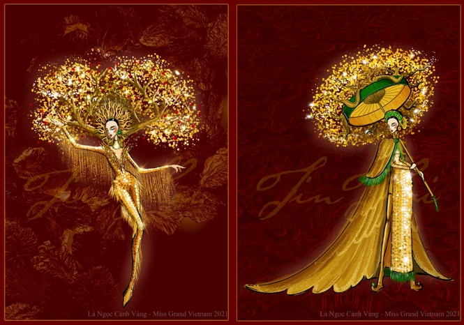 Nhìn bản phác thảo quốc phục của Á hậu Ngọc Thảo, dự đoán thành phẩm sẽ vô cùng hoành tráng - ảnh 2