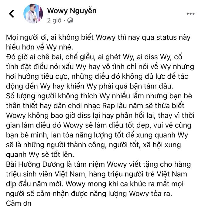 Động thái mới nhất của Wowy sau tin đồn bị R.Tee nói xấu: