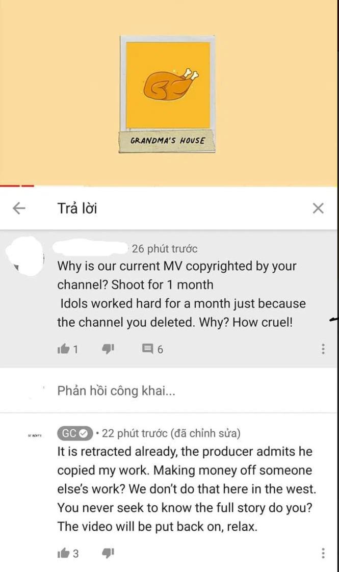 """Kênh đánh bản quyền MV của Sơn Tùng khẳng định: """"Producer thừa nhận đã copy ca khúc của chúng tôi"""" - ảnh 1"""