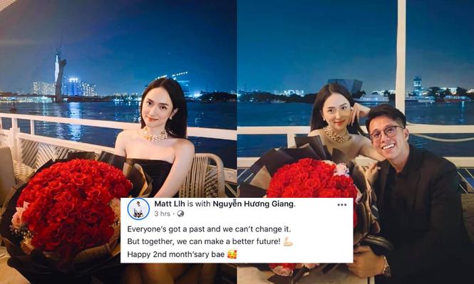 Sau tất cả Hương Giang - Matt Liu cùng đăng ảnh hạnh phúc kỉ niệm 2 tháng yêu nhau - ảnh 1