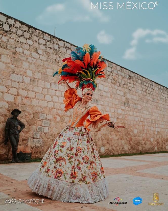 Choáng ngợp trước trang phục truyền thống lộng lẫy của các thí sinh Hoa hậu Mexico 2020 - ảnh 10